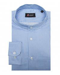 Shirt Caravaggio Satin Light BlueWhite