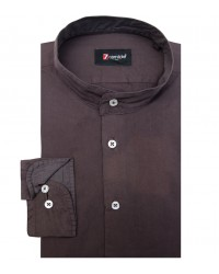 Shirt Caravaggio poplin Brown