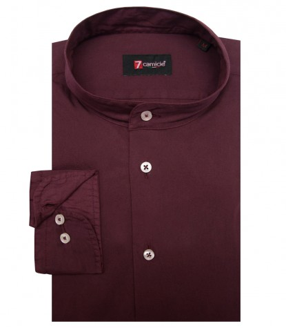 Shirt Caravaggio poplin Red Bordeaux
