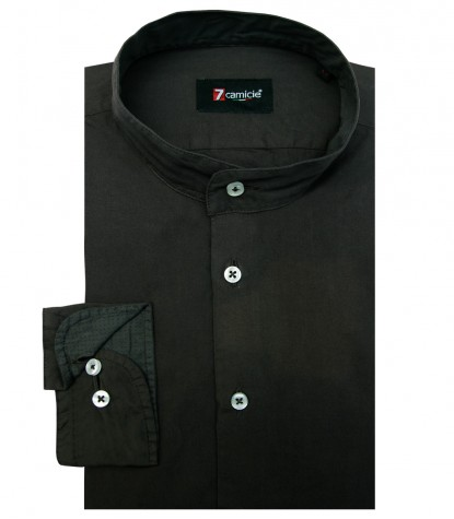 Shirt Caravaggio poplin Dark Green