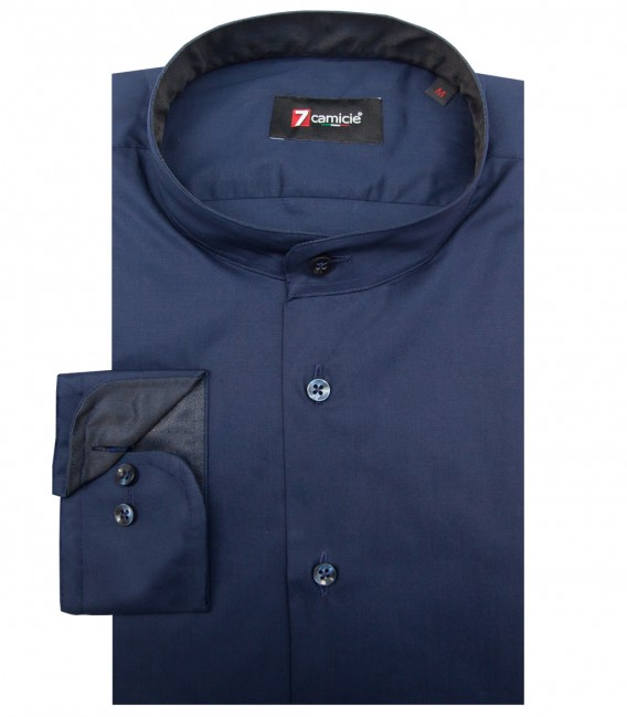 Shirt Caravaggio stretch poplin Blu