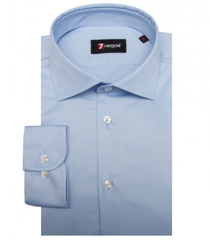 Shirt Firenze Satin Light Blue