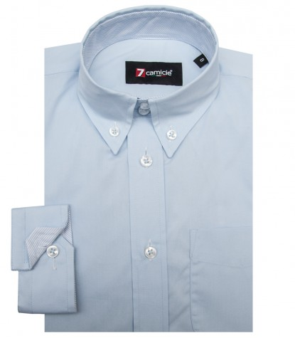 Camicia Francesco Popeline stretch Celeste