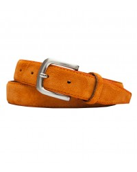 Ceintures homme Plaine orange brique