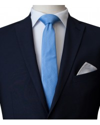 Stain Proof Tie Navona Silk Light Blue