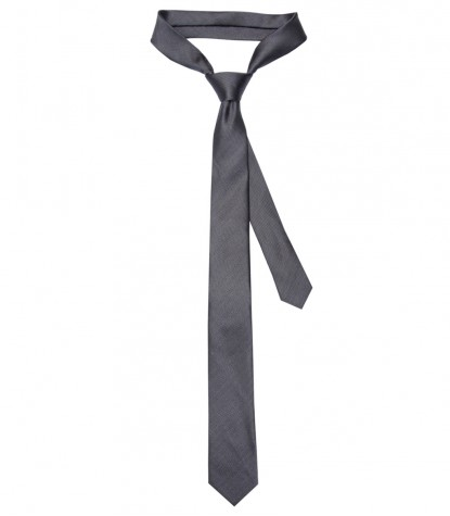 Stain Proof Tie Navona Silk Dark Grey