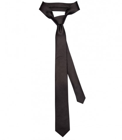 Stain Proof Tie Navona Silk Black