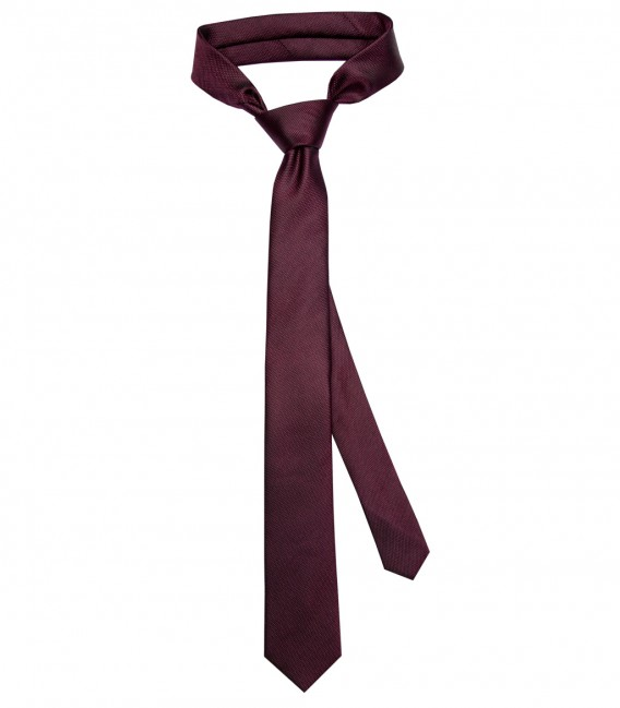 Stain Proof Tie Navona Silk Red Bordeaux