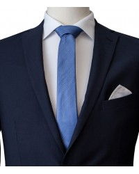 Stain Proof Tie Navona Silk Blue Avion