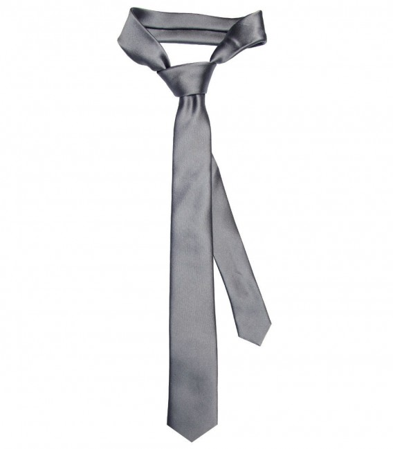 Stain Proof Tie Navona Silk Medium grey