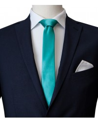 Stain Proof Tie Navona Silk Water Green