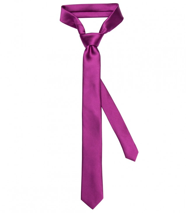 Stain Proof Tie Navona Silk Cyclamen Violet