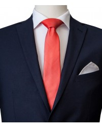 Stain Proof Tie Navona Silk Coral