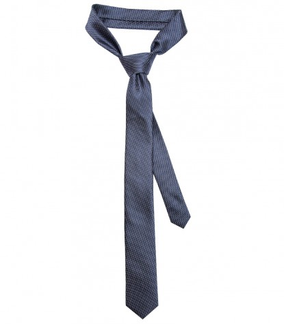 Stain Proof Tie Navona Silk BlueWhite