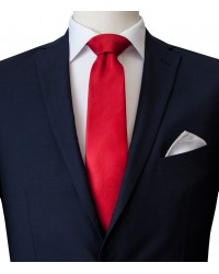 Stain Proof Tie Trevi Silk Red