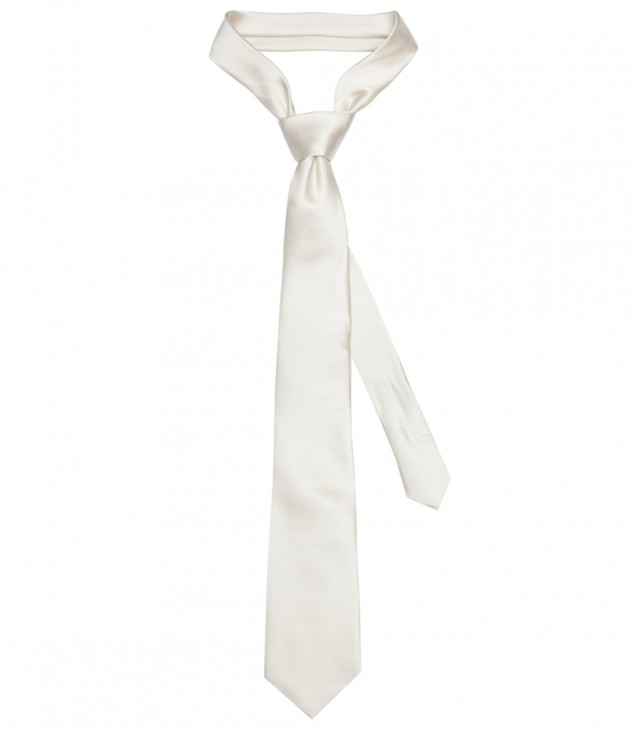 Stain Proof Tie Trevi Silk Champagne