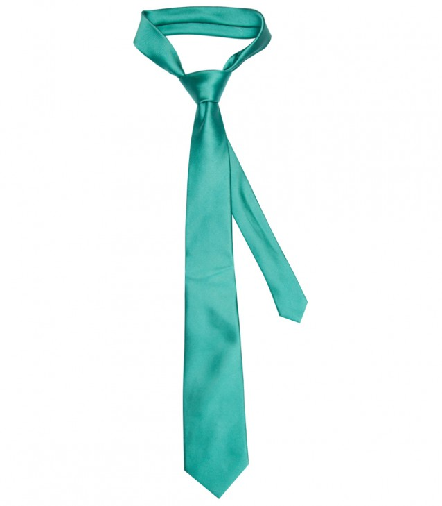 Stain Proof Tie Trevi Silk Water Green