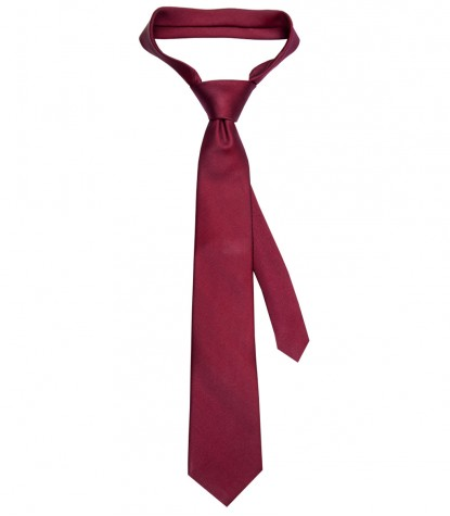 Stain Proof Tie Trevi Silk Red Bordeaux