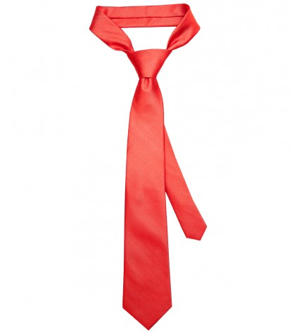 Stain Proof Tie Trevi Silk Coral