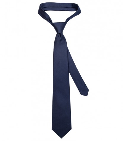 Stain Proof Tie Trevi Silk Blu