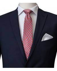 Stain Proof Tie Trevi Silk RedBlue