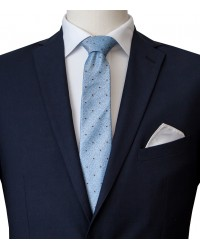 Stain Proof Tie Trevi Silk Lite BlueBrown
