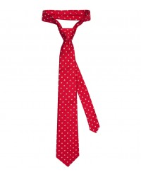 Stain Proof Tie Trevi Silk Red and Light Blue