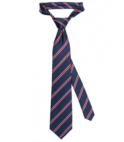 Stain Proof Tie Trevi Silk BlueRed