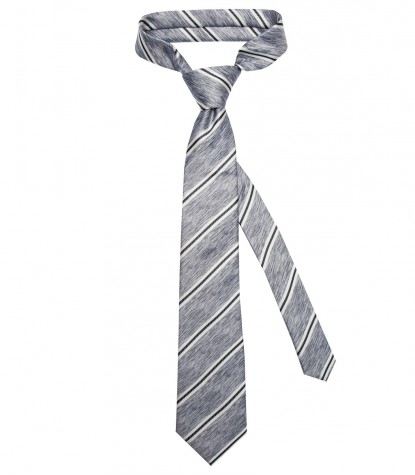 Stain Proof Tie Trevi Silk BlueWhite