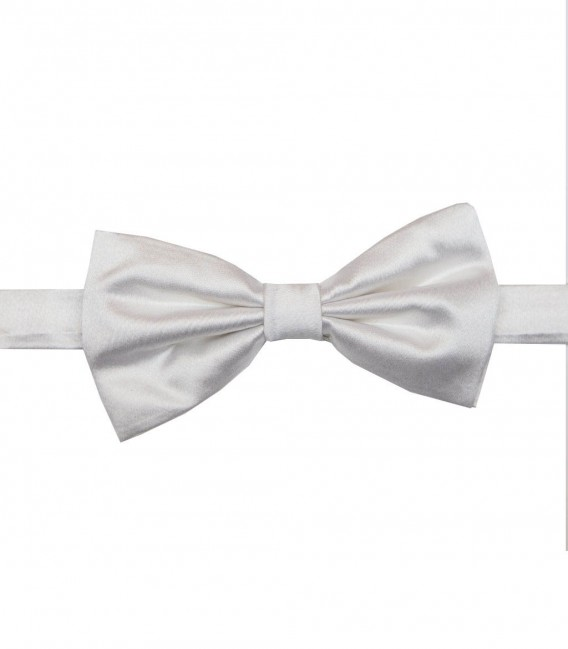 Stain Proof Bow Tie Roma Silk White