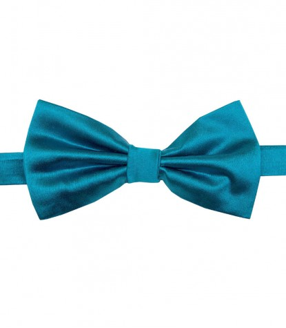 Stain Proof Bow Tie Roma Silk Turquoise