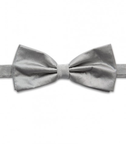 Stain Proof Bow Tie Roma Silk Light Grey