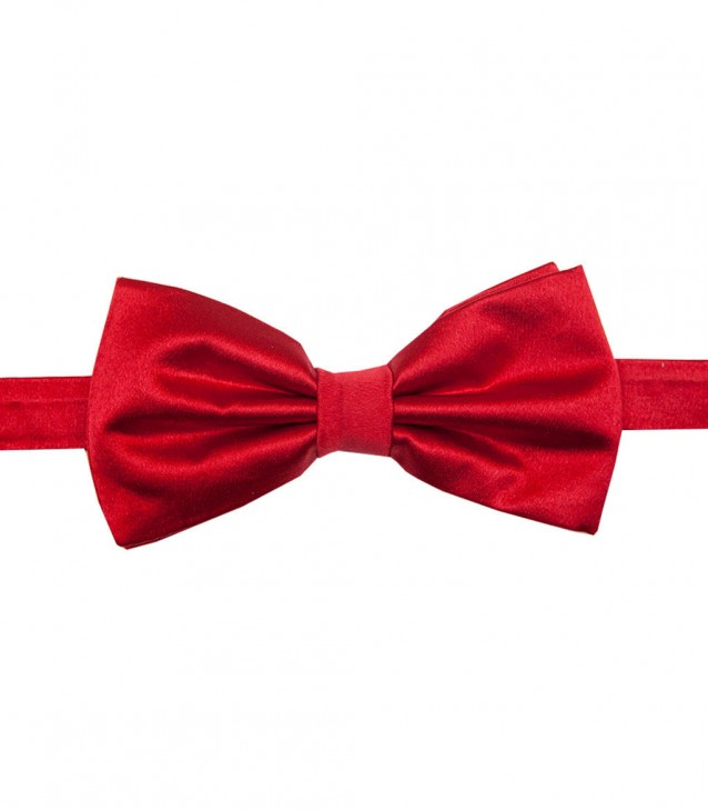 Stain Proof Bow Tie Roma Silk Red