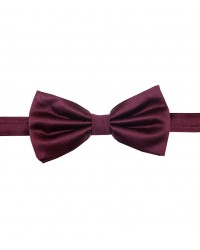 Stain Proof Bow Tie Roma Silk Red Bordeaux
