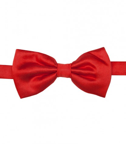 Stain Proof Bow Tie Roma Silk Coral