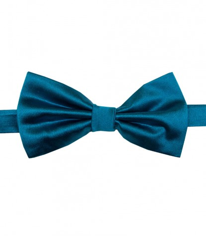 Stain Proof Bow Tie Roma Silk Teal Green