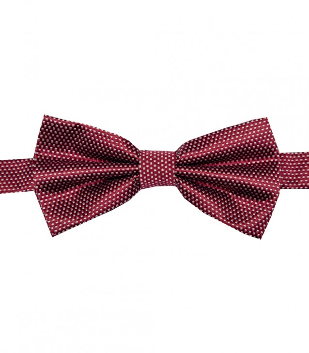 Stain Proof Bow Tie Roma Silk BordeauxWhite