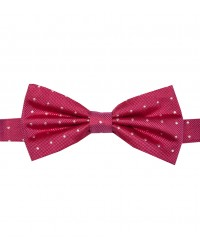 Stain Proof Bow Tie Roma Silk Fuchsia White