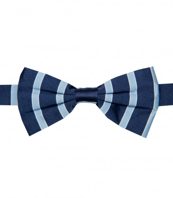 Stain Proof Bow Tie Roma Silk BlueLite Blue