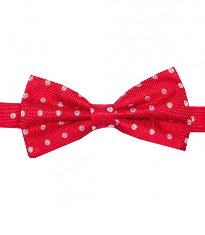 Stain Proof Bow Tie Roma Silk Red and Light Blue
