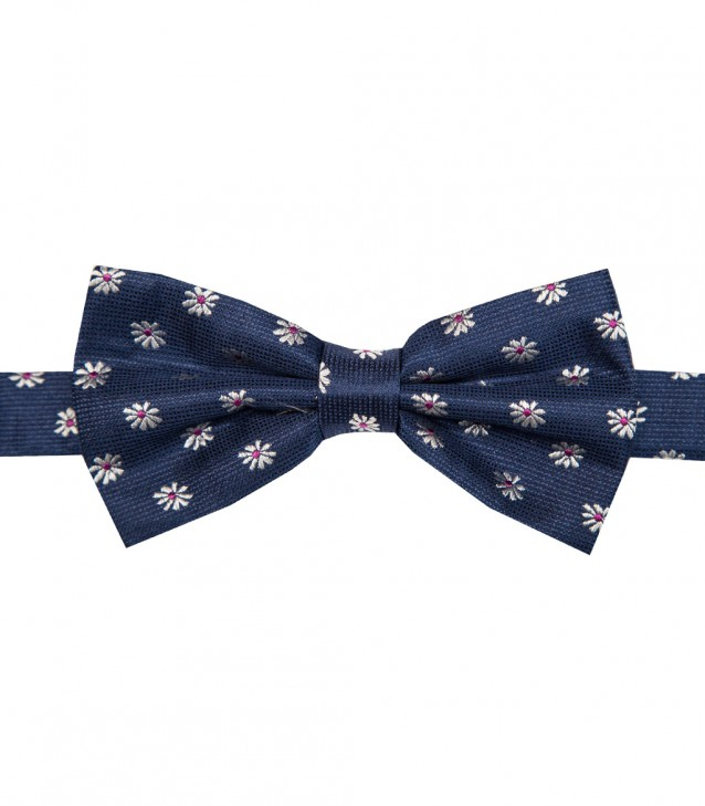 Stain Proof Bow Tie Roma Silk BlueWhite