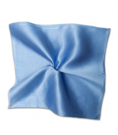 Stain Proof Pochette Roma Silk Light Blue