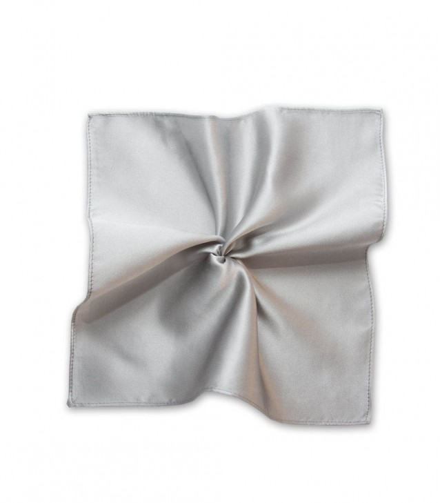 Stain Proof Pochette Roma Silk Light Grey