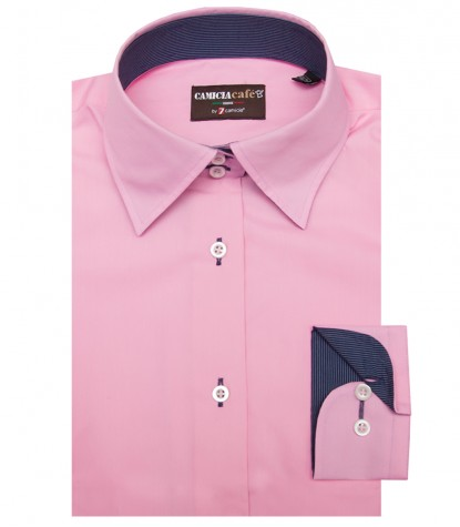 Shirt Linda Cotton Polyester Pink