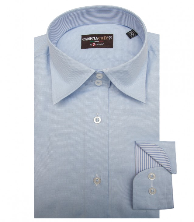 Shirt Linda Cotton Polyester Light Blue