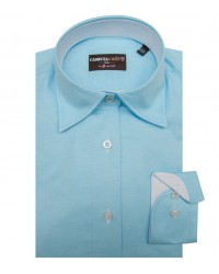 Chemises Linda Coton Polyester turquoise clair