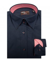 Shirt Linda Cotton Polyester Blu