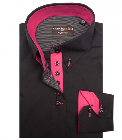 Shirt Silvia Cotton Polyester Black