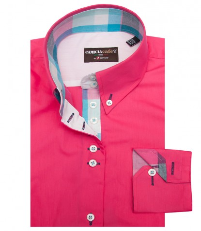 Shirt Silvia Cotton Polyester Fuchsia