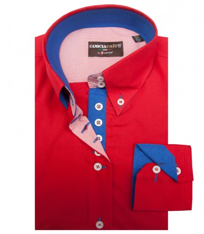 Shirt Silvia Cotton Polyester Red